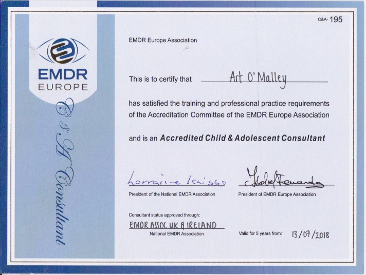 Certificate for EMDR